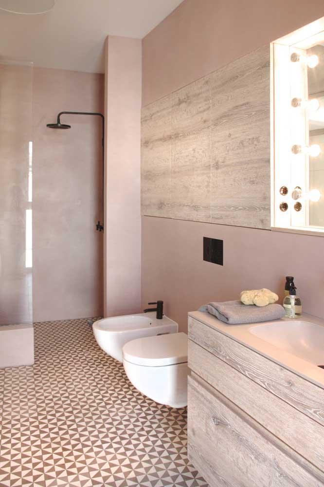 A torneira do bidê também precisa combinar com o restante da decoração do banheiro