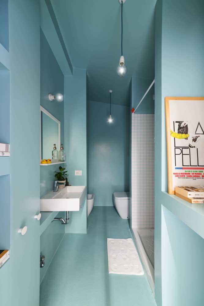 Área reservada e exclusiva para o bidê e o vaso sanitário