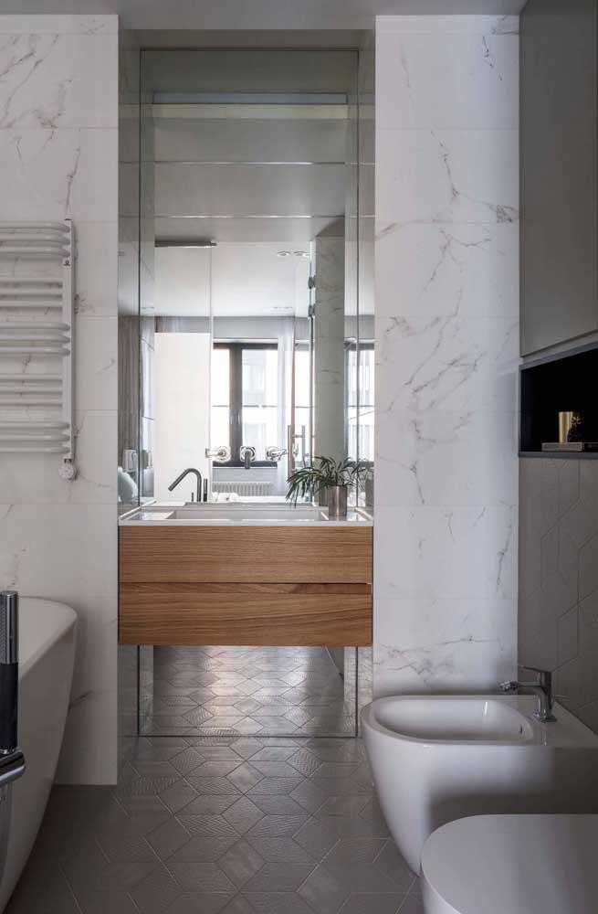 Banheiro com bidê: um modelo clássico e elegante para você se inspirar