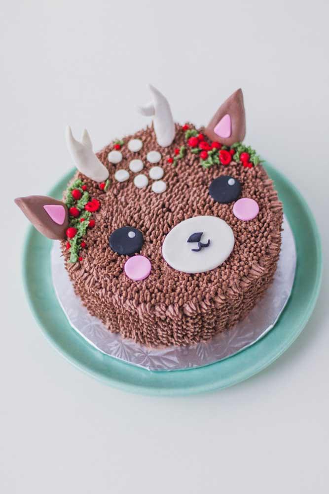 Tem crianças na ceia de natal? Então faça um bolo com cara de rena!
