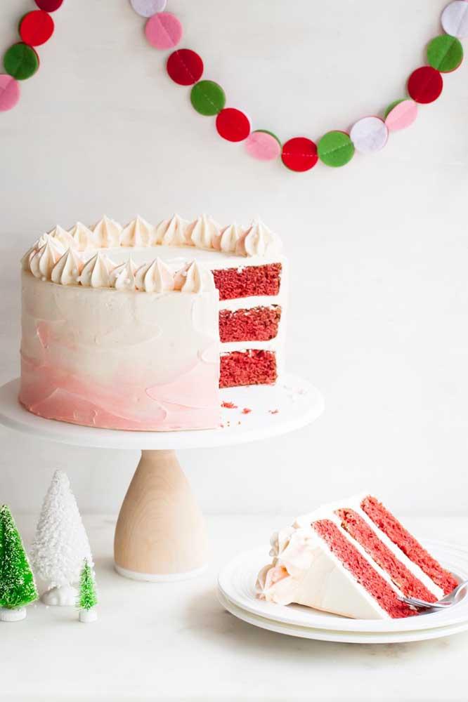 O bolo red velvet é uma ótima pedida para o natal