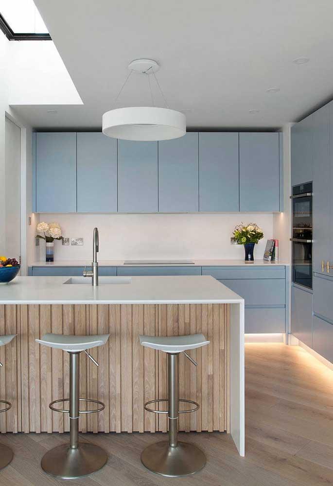 Lustre redondo simples para a cozinha