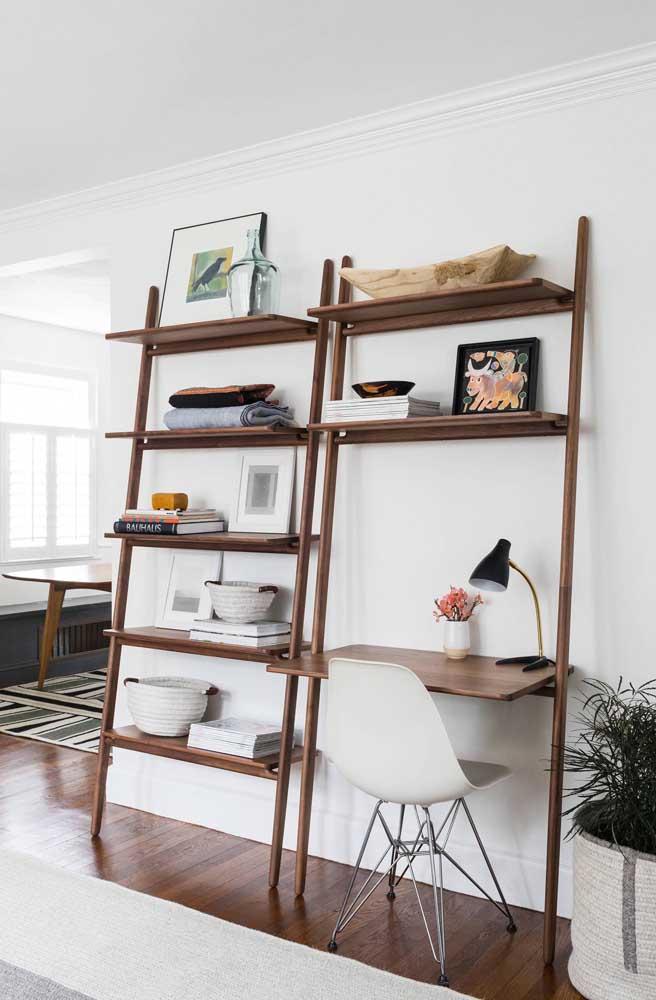 Quanto mais funções você puder agregar à sua estante escada melhor