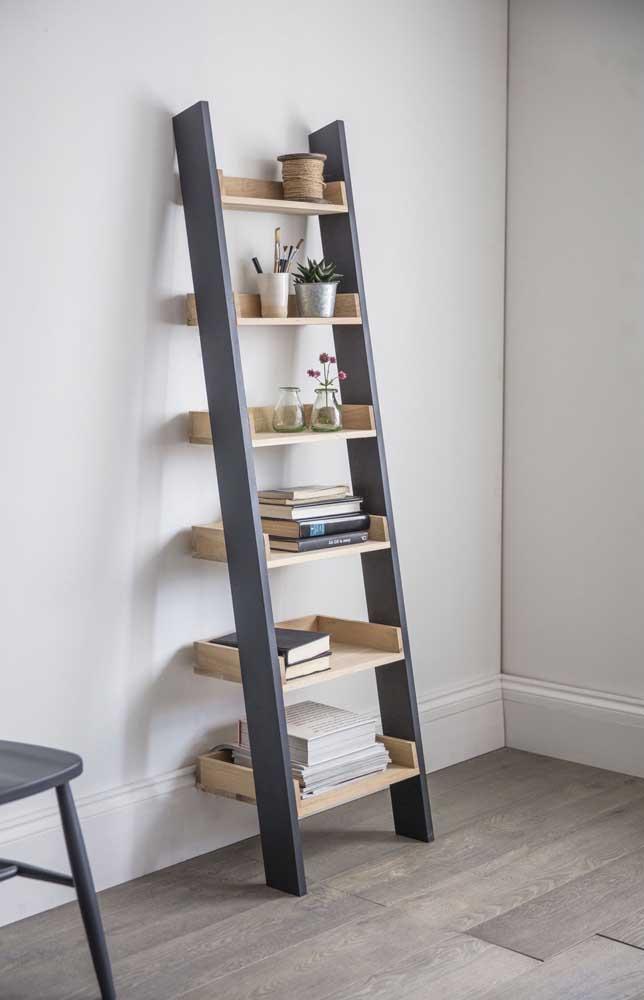 Escada estante para livros: um modo moderno para criar sua biblioteca em casa