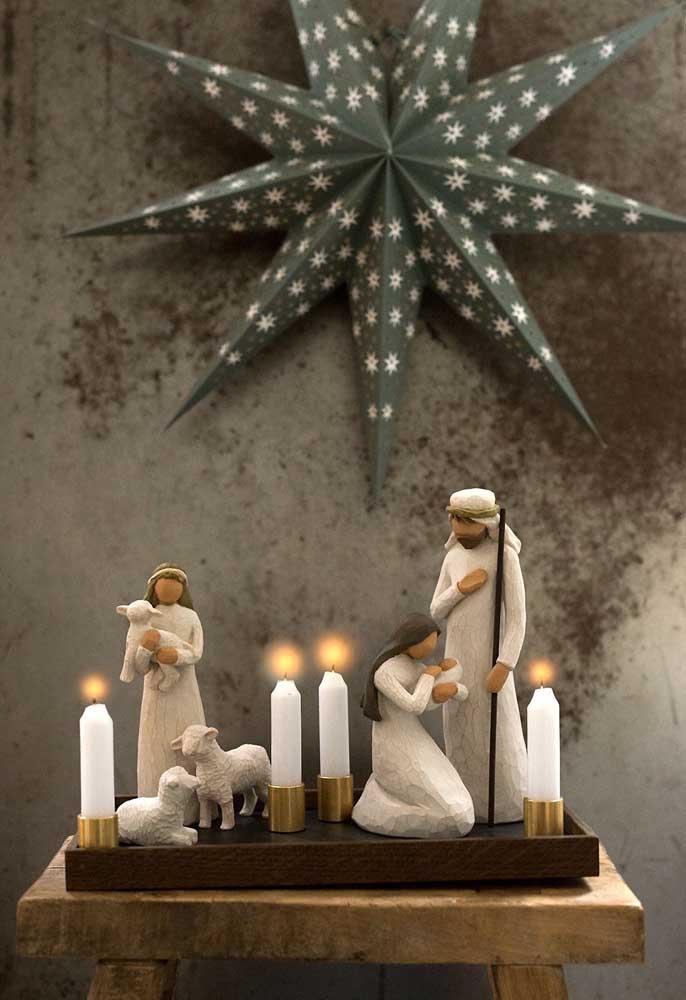 Velas para simbolizar a luz que o Cristo trouxe para a humanidade