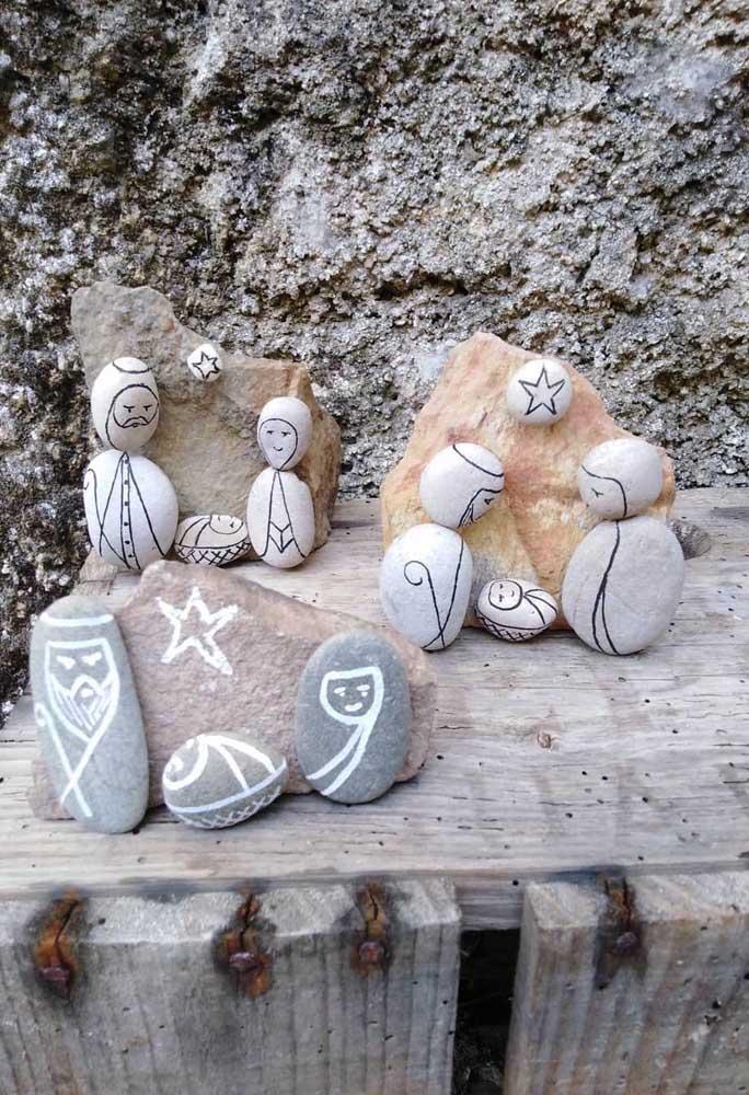 E que tal montar um presépio de pedras?