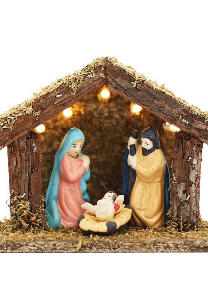 Mesmo que seja simples, não deixe de ter o seu presépio para celebrar o natal