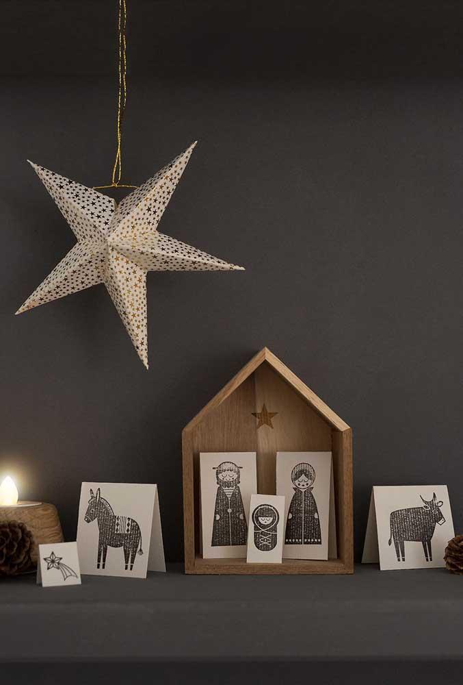 Presépio de natal livremente inspirado nas xilogravuras e no cordel, elementos típicos da arte popular nordestina