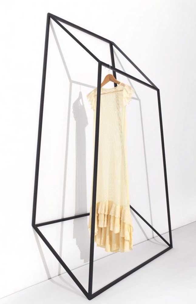 Arara de roupas em 3D: incrível essa ideia!