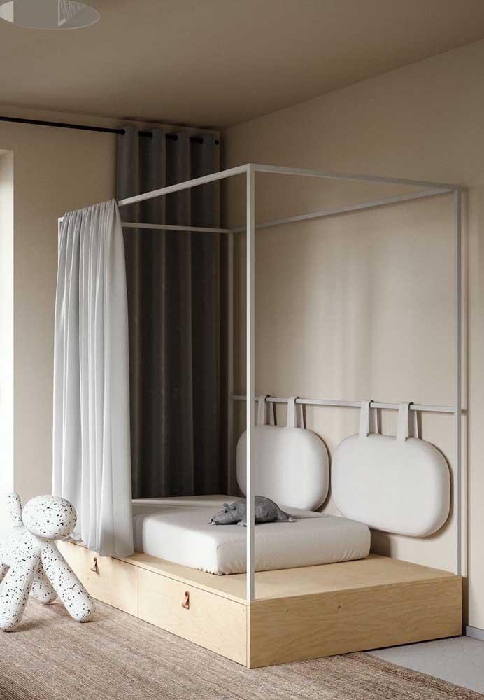 O quente e acolhedor, o Off White é perfeito para quartos infantis