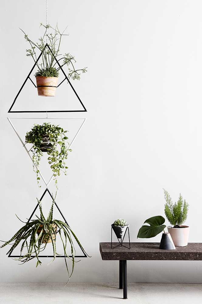 Suporte moderno para plantas em estilo suspenso