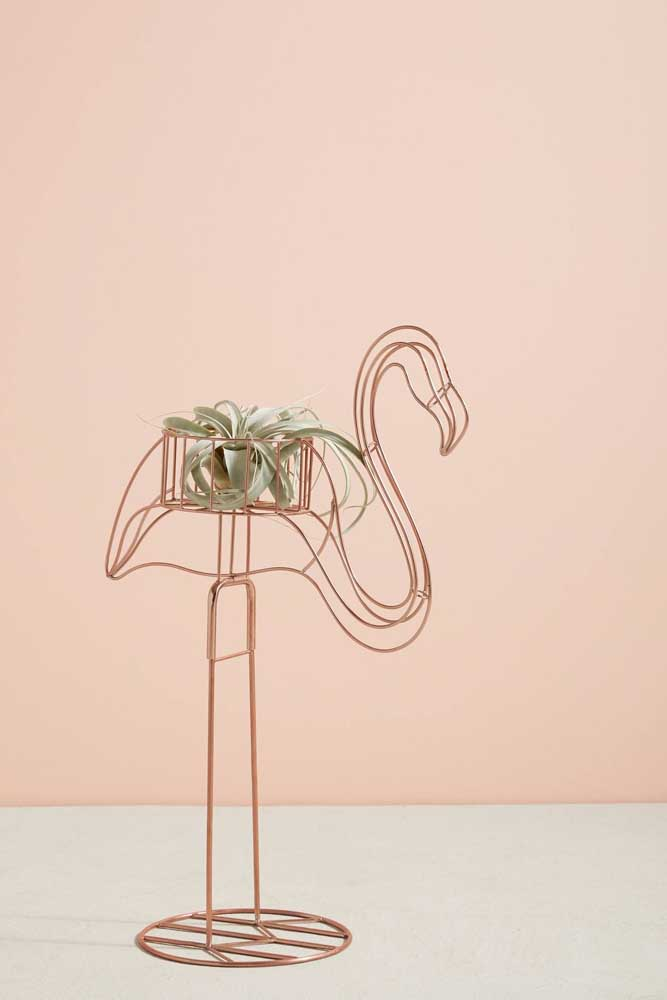 Suporte de flamingo! Delicado e romântico