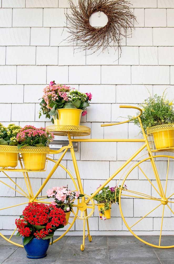 Uma bicicleta ou um suporte para plantas?