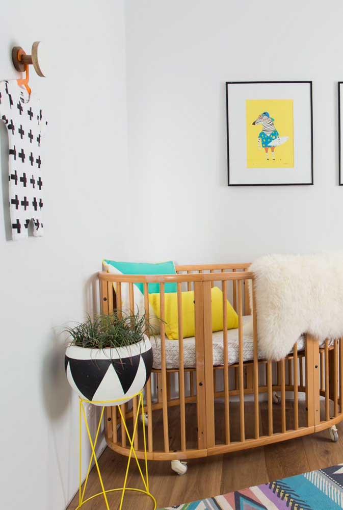 Quarto infantil também tem lugar para as plantinhas. Apenas lembre-se de mantê-las longe do alcance das crianças