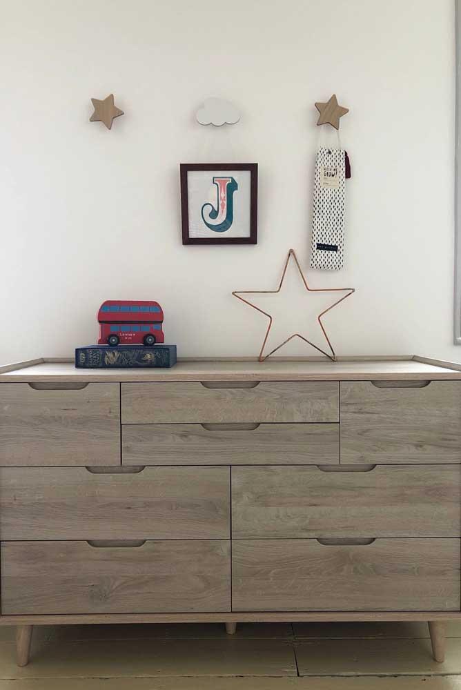 Super decorativos, esses ganchos de parede infantil se destacam no quarto