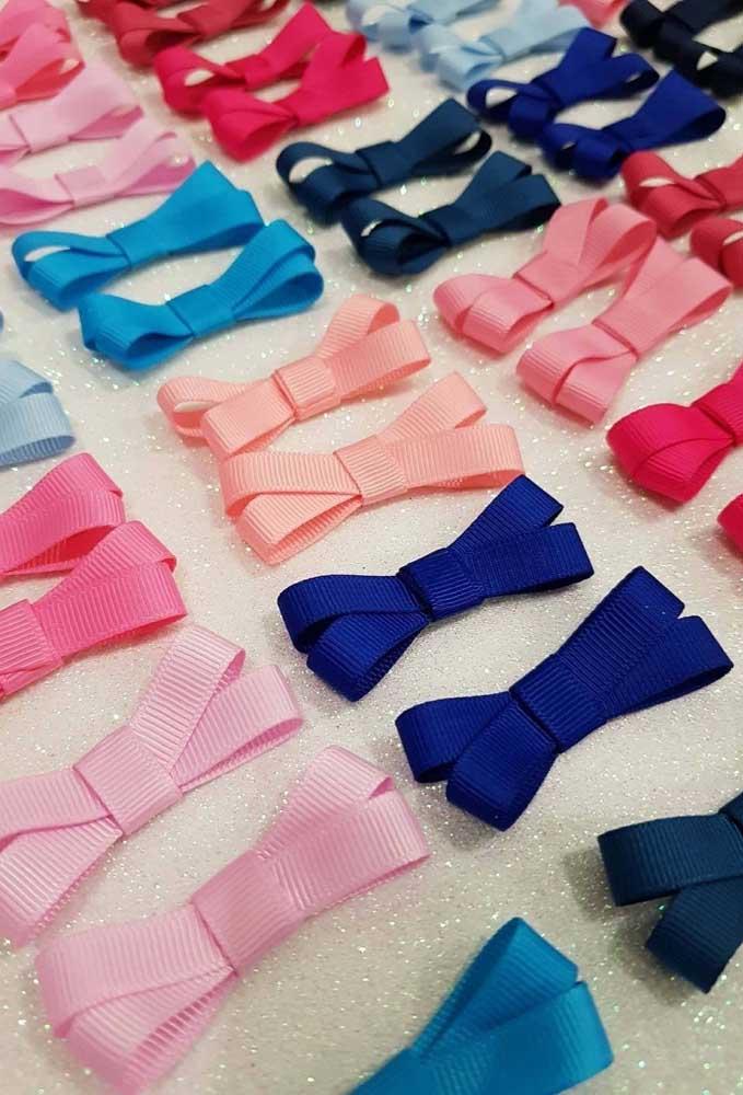 Laços de gorgurão duplo em diferentes cores, uma ótima opção de faça e venda