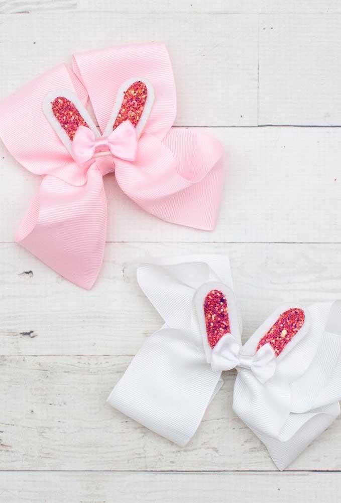 Orelhinhas de coelho: uma inspiração fofa para lacinhos infantis