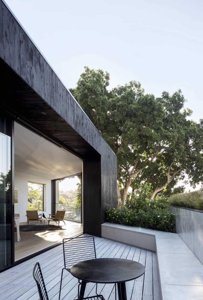 Terraço moderno e minimalista