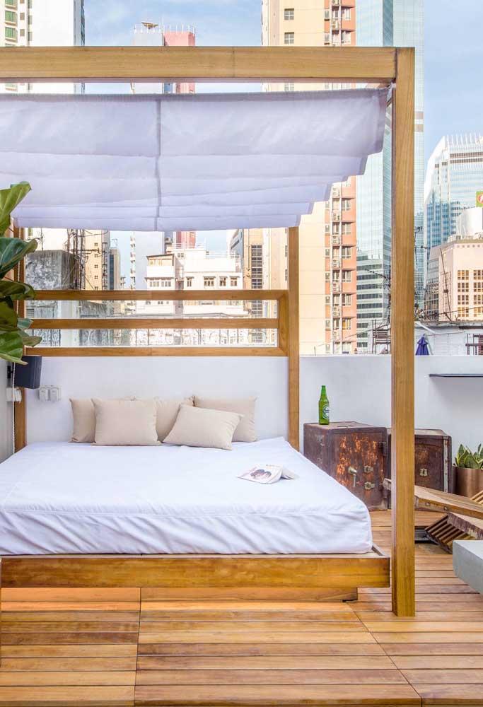 Dá até para tirar uma soneca nesse terraço!