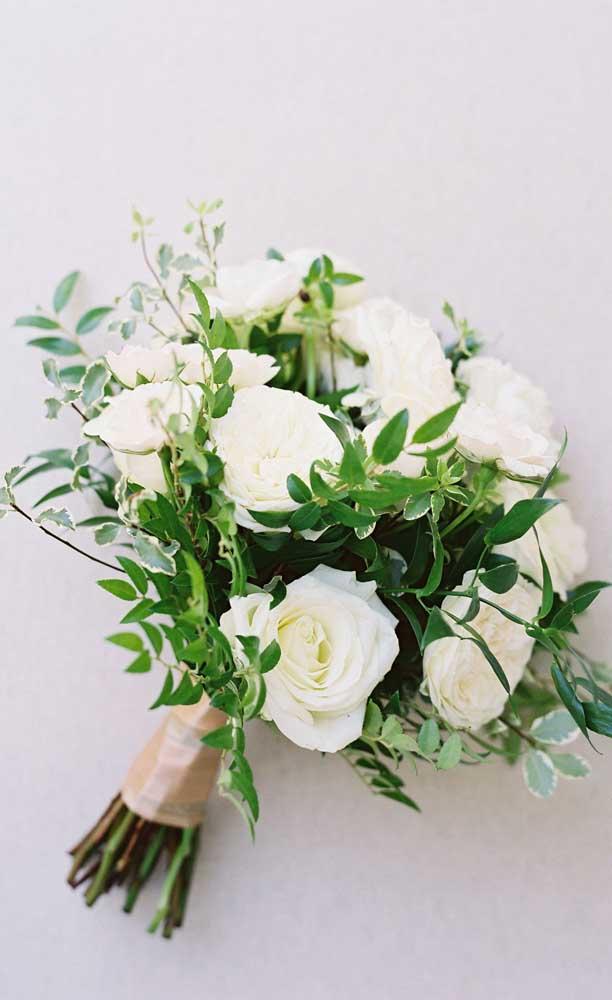 Um buquê de flores em estilo moderno e minimalista