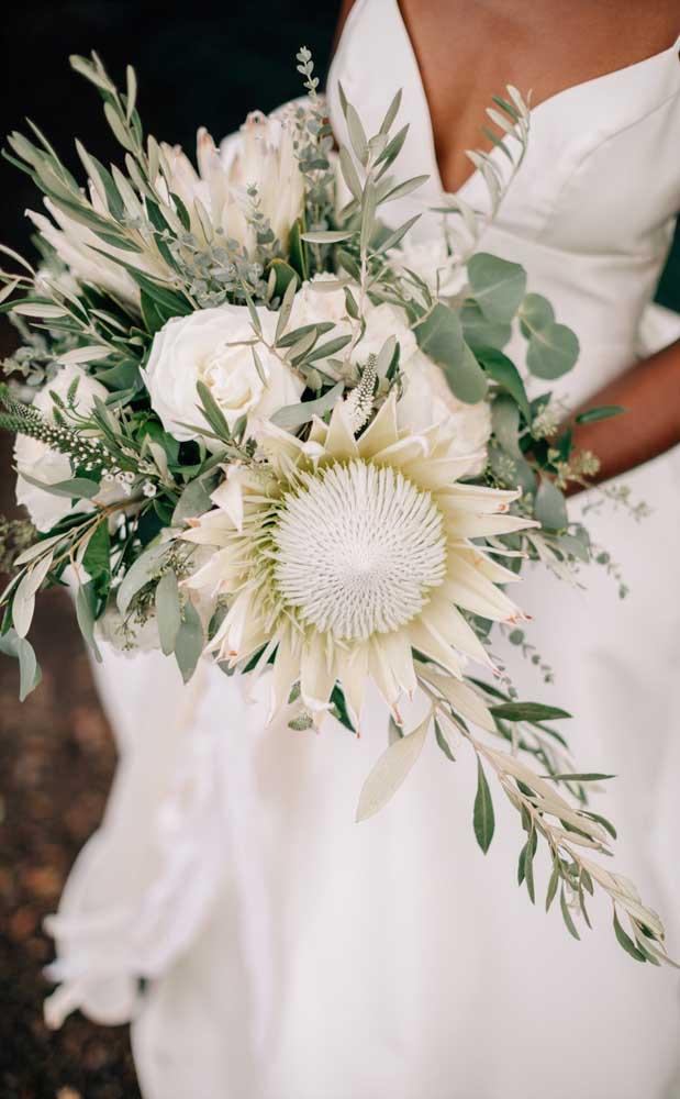 Uma dos buquês preferidos das noivas: o branco!