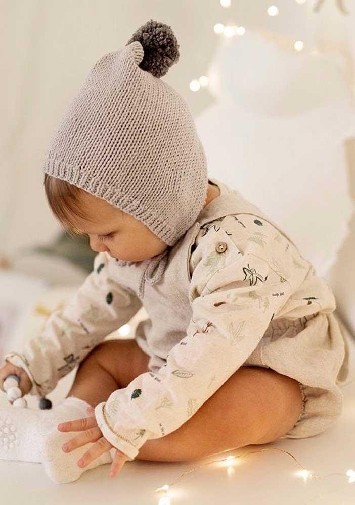 Lembre-se: a lã para as toucas de tricô de bebê devem ser macias e de alta qualidade