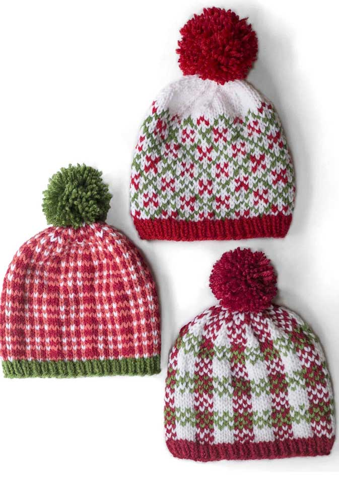 Touca de tricô para entrar no clima de Natal
