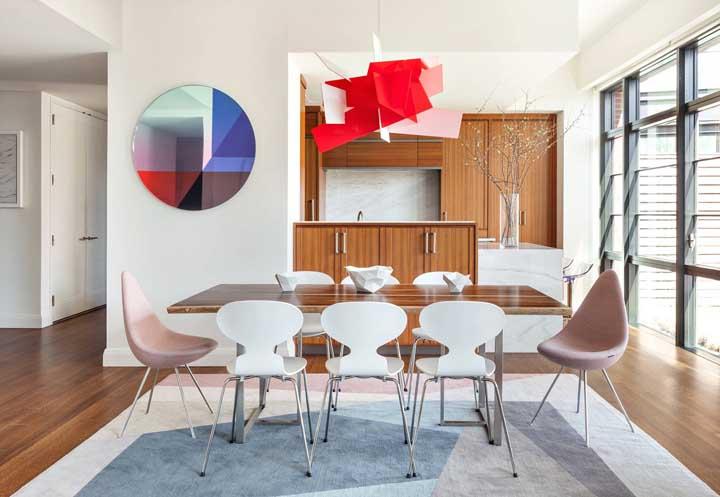 Tapete geométrico com inspiração moderna e escandinava