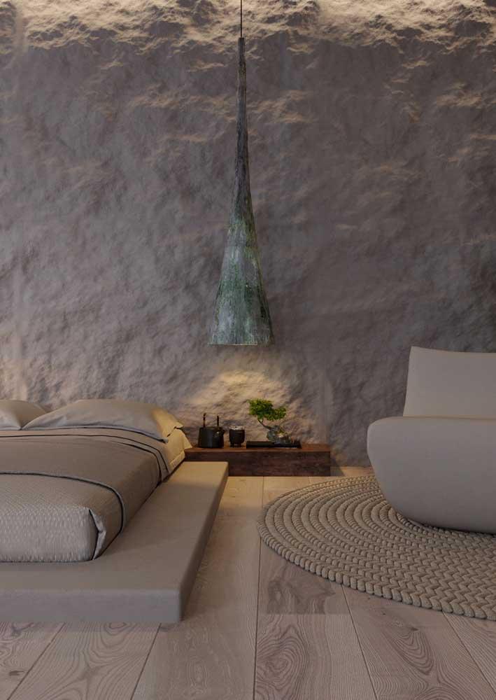 Rusticidade é a palavra que define essa textura de parede com efeito pedra