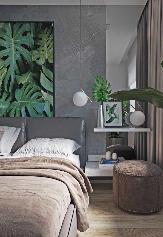 Já no quarto, a opção certeira é a parede da cabeceira da cama