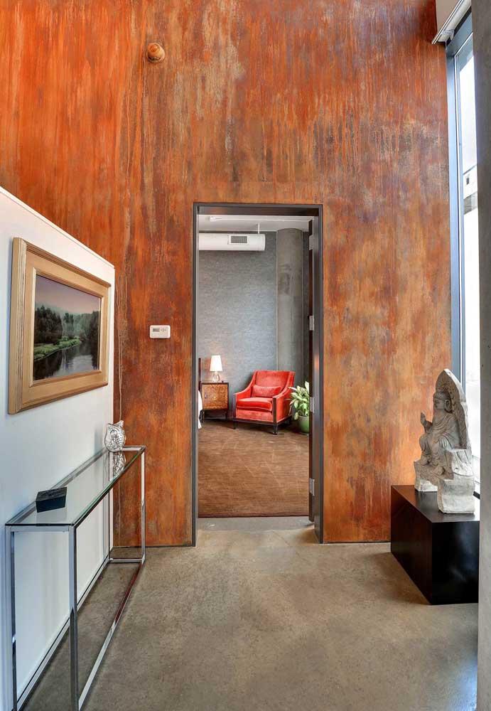 Tinta escorrendo na parede também é um tipo de textura