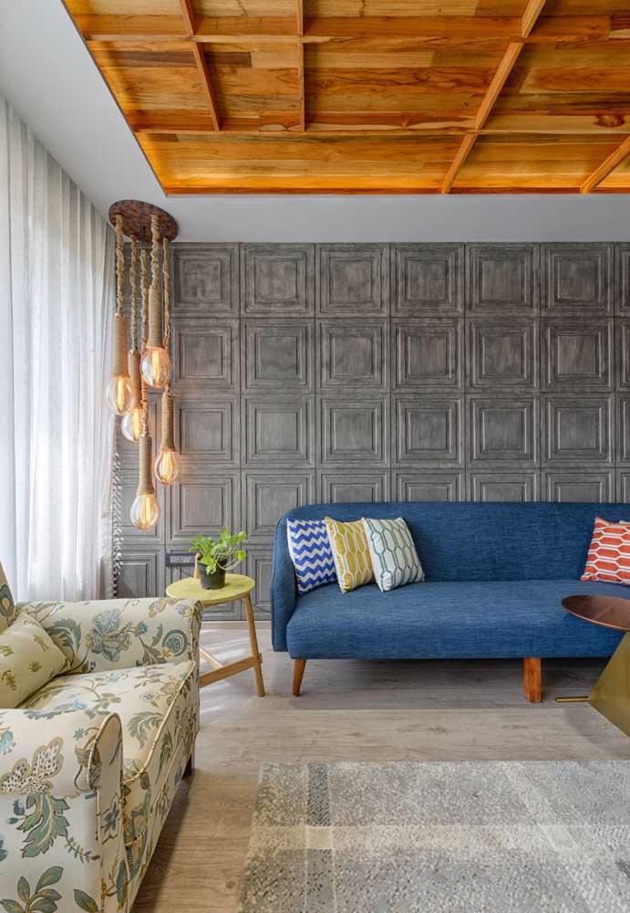 Que tal criar molduras na parede usando textura?