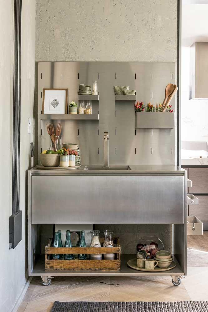 Um tipo de grafiato diferente para essa cozinha