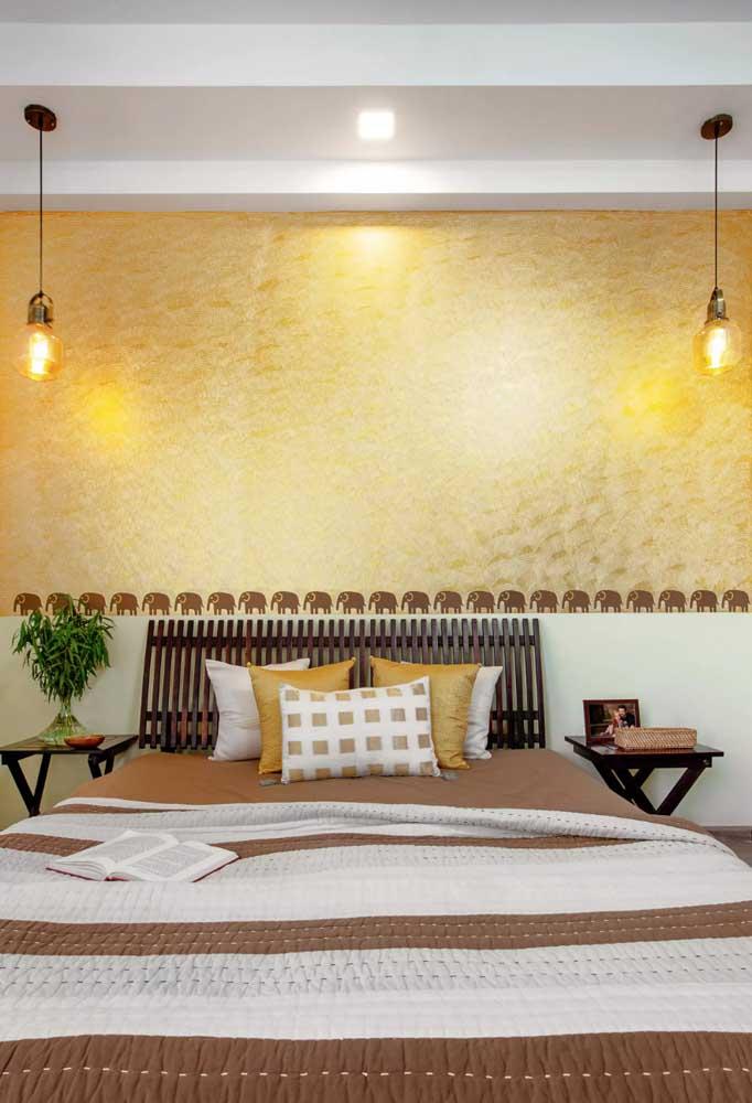 Textura amarela para aquecer o quarto