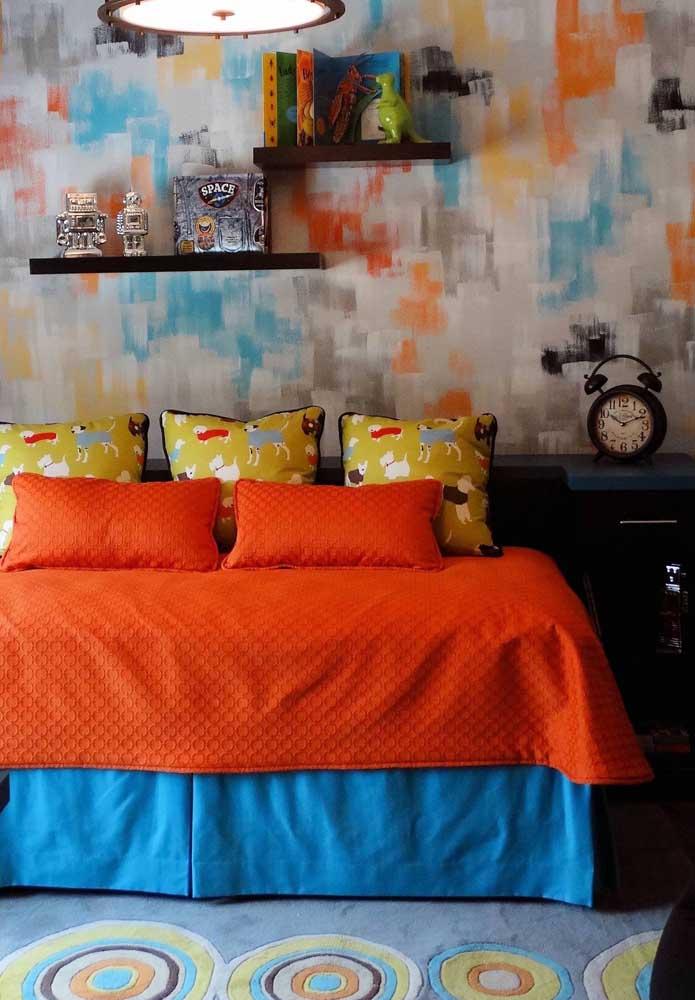 Textura de parede colorida para o quarto infanto juvenil