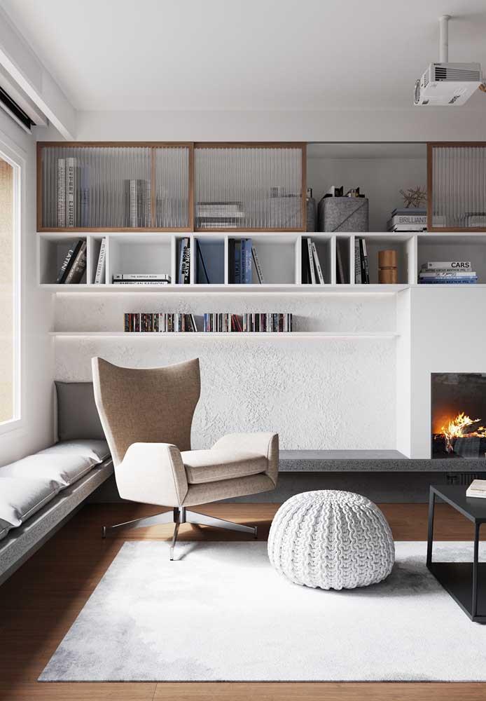 Textura de parede branca para sala de estar