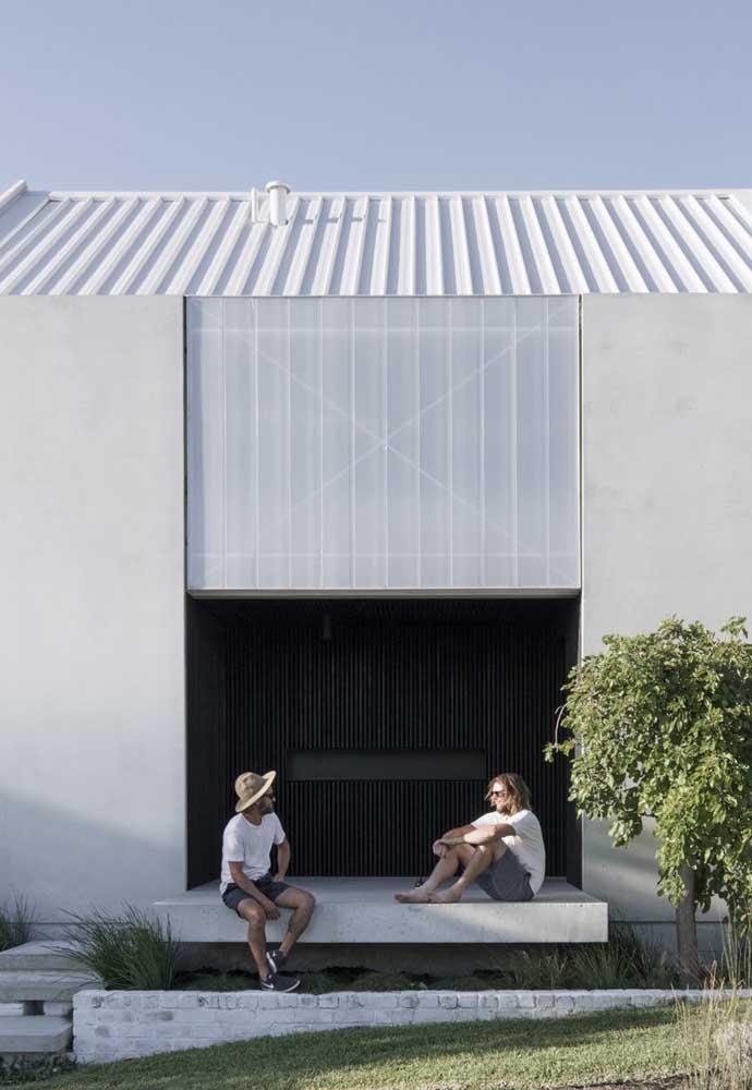 Telha ecológica em um projeto minimalista