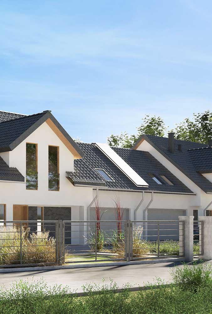 Que linda união: telhado ecológico com placa de energia solar
