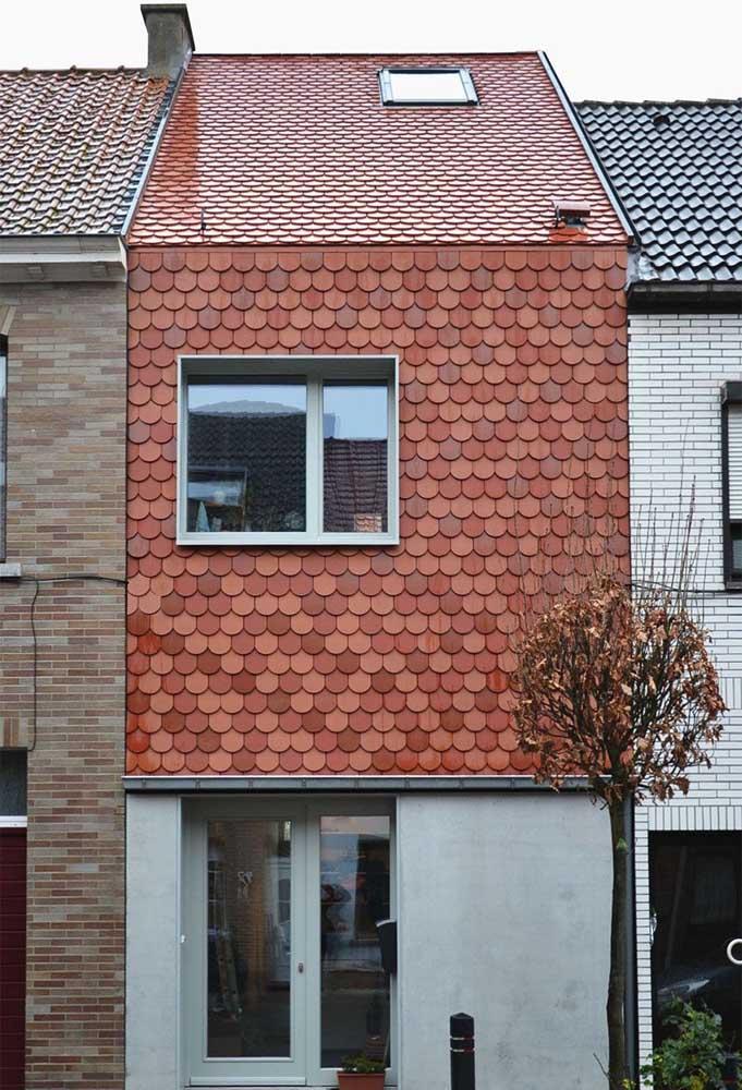 Quando a telha ecológica vai parar na parede!
