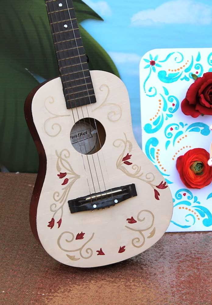 O violão é um dos principais elementos da festa Princesa Elena de Avalor.