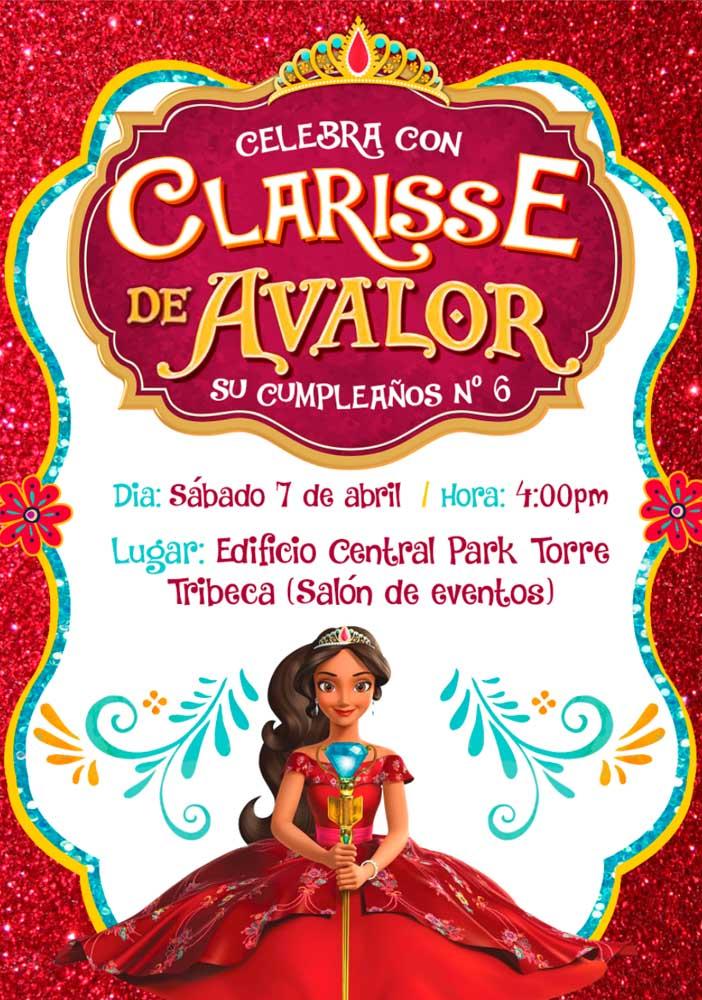Até o convite Elena de Avalor deve ser um luxo igual a história da Princesa.
