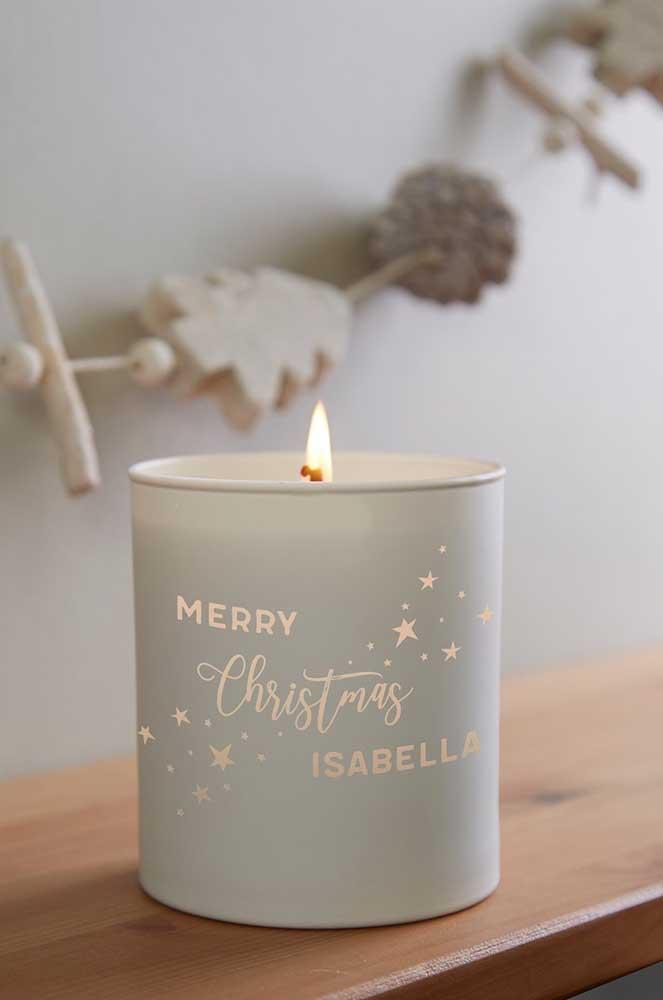Velas decoradas também são uma linda opção de presente para o natal
