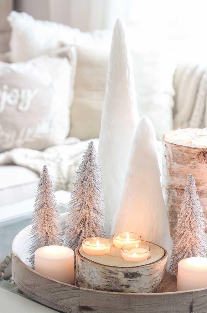 As velas deixam qualquer decoração mais aconchegante e intimista