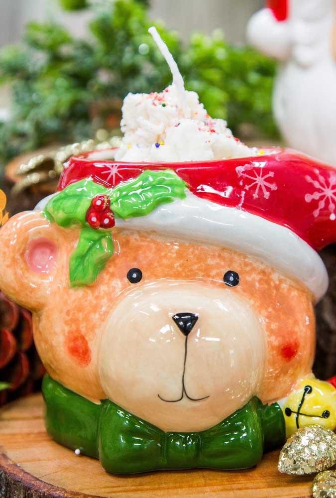 Uma vela para iluminar a cabeça do ursinho