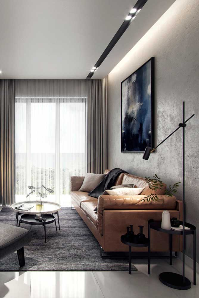 Dobradinha de mesas de canto para decorar e organizar a sala de estar moderna