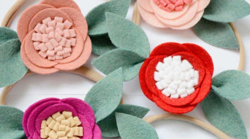 Flor de feltro: como fazer passo a passo e fotos inspiradoras