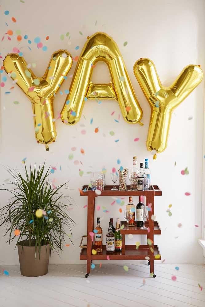 Balões de letras decorativas: perfeito para festas, seja ela de qual tipo for