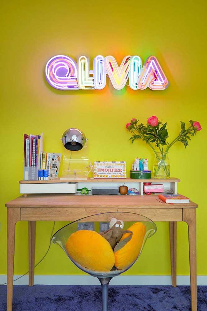 Letras decorativas de neon. Seu nome nunca mais será o mesmo