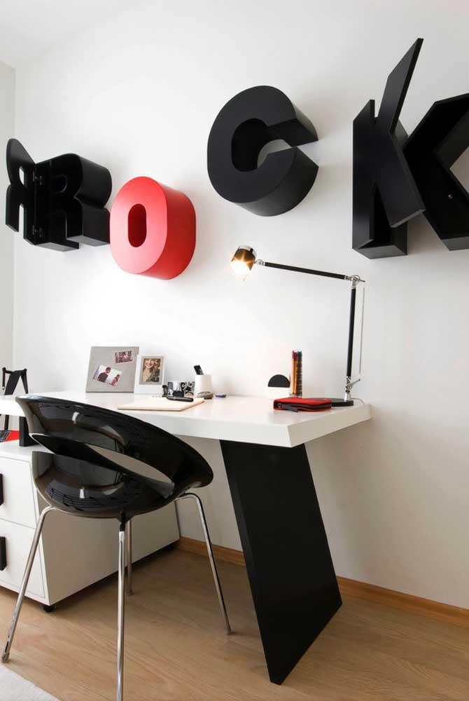 Nichos feitos com letras decorativas! Que ideia incrível!