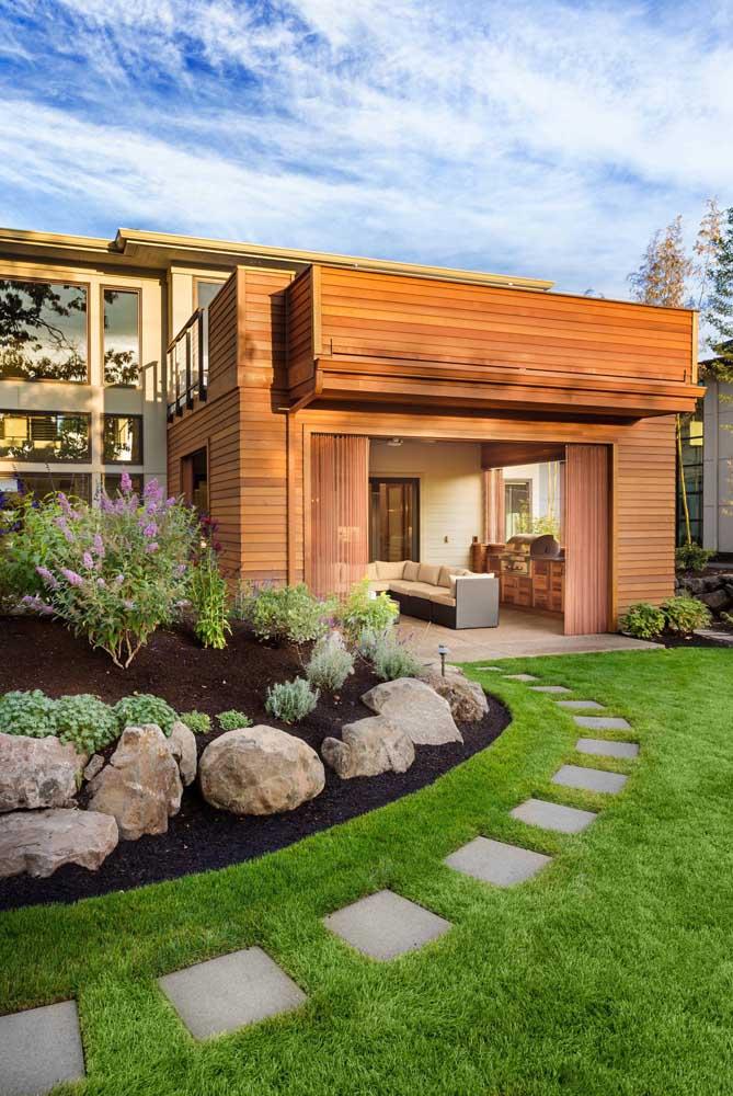 Jardim residencial funcional e estético ao mesmo tempo